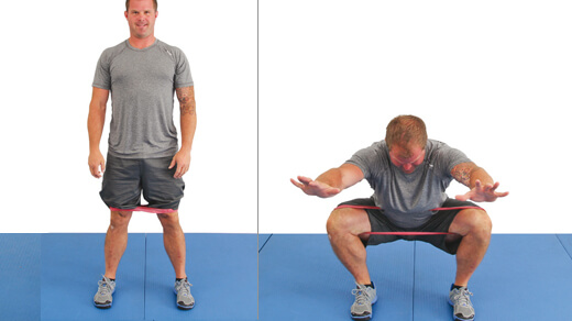 Knee valgus band drill
