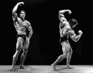Arnold bodybuilding pose image