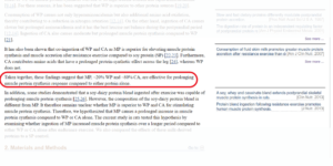 Whey vs Casein Study Screenshot
